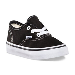 1395a4fc9a Details about New Vans Authentic Black-White Canvas Laces Toddler Boy Girl Shoes  Size 4 -10