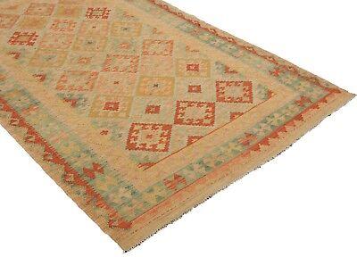 Kelim / Kilim Afghan Maimana 254 x 149 Orient Perser Teppich Flachgewebe