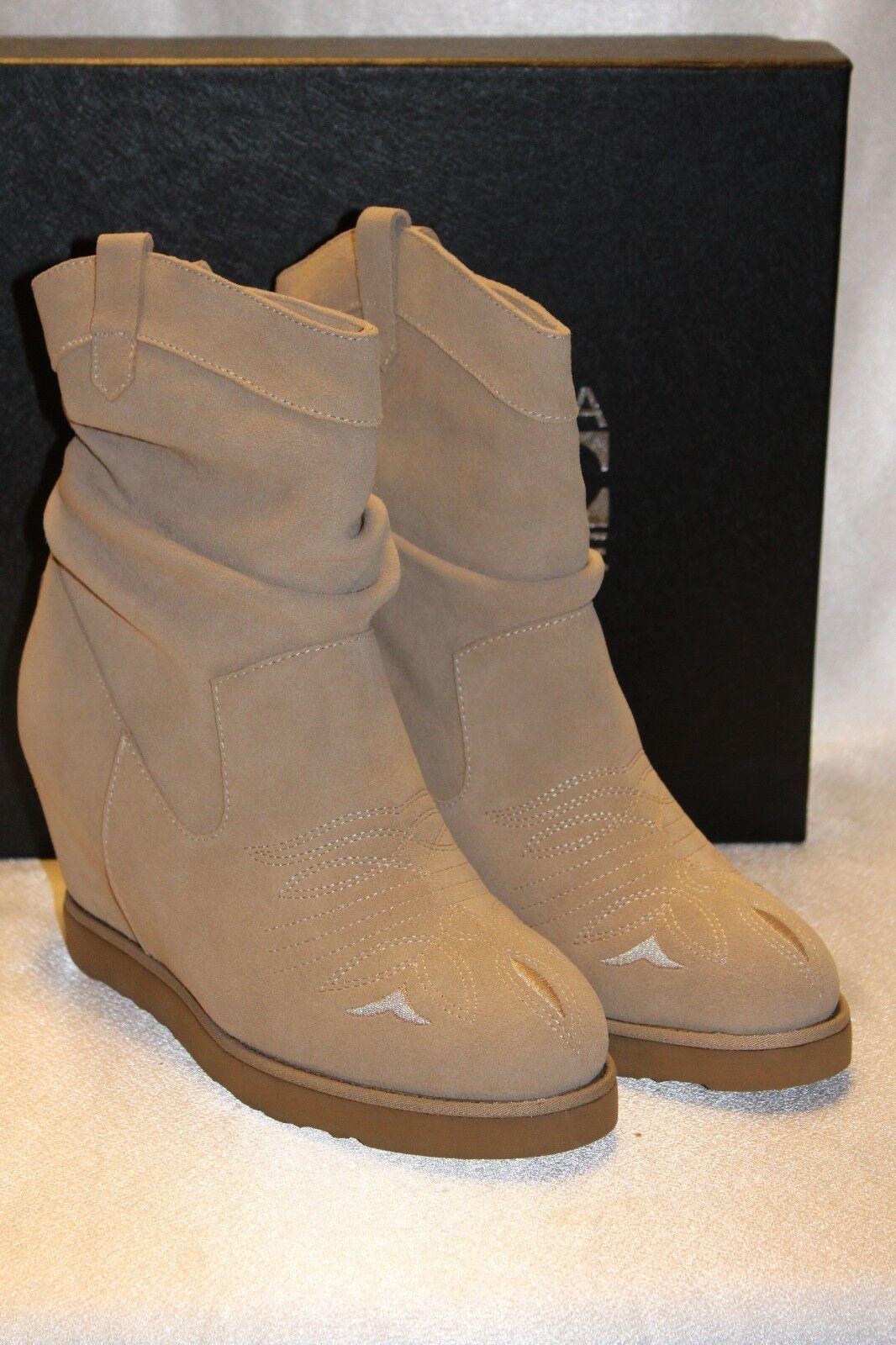 Nuevo Australia Luxe ante Color Color Color arena Shearling botas Vaqueras Cuña occidental 8 9 10  275  alta calidad