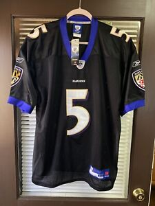 Vintage Baltimore Ravens Joe Flacco #5 NFL Reebok Jersey Stitched ...
