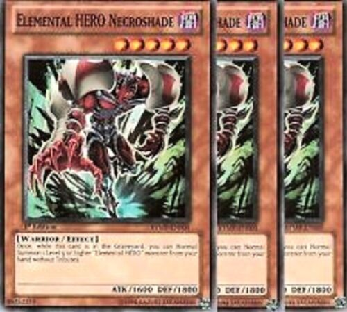 Elemental HERO Necroshade 1st X 3 RYMP-EN005 Common Yugioh