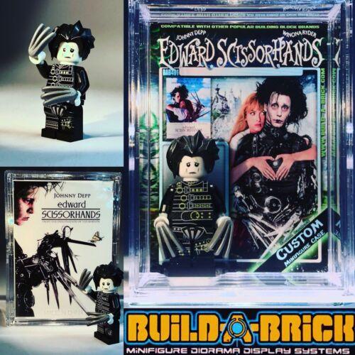 Edward Scissorhands Custom Mini Action Figure w case /& LEGO Support 401 figurine