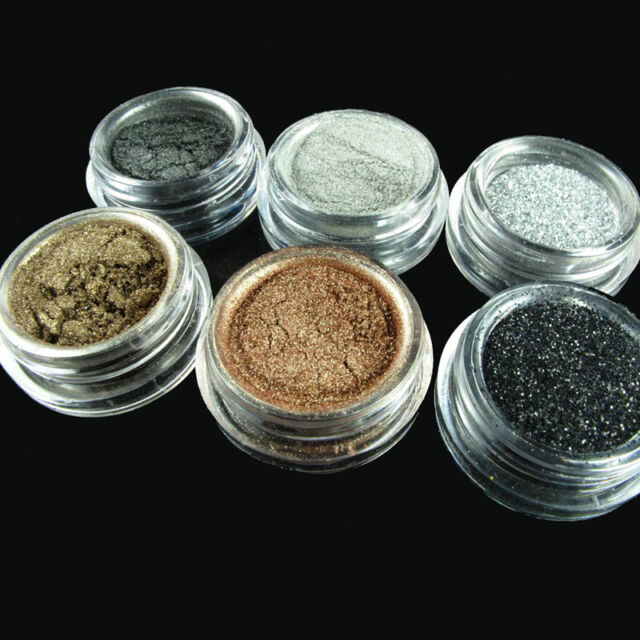 6pcs/lot Fashion Eyeshadow Make Up HOT pigment Glitter Smoky Eye Version  qlll