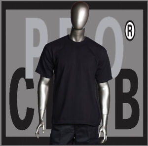 5b5e891e5c8a16 Big and Tall T-Shirts Plain Mens PRO CLUB HEAVYWEIGHT PROCLUB Black ...