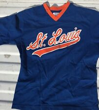 Vintage Baseball St. Louis Medalist Sand-knit 80's Jersey Orange & Blue