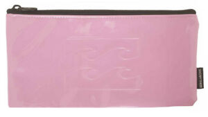 NEW + TAG BILLABONG 'ELECTRIC' GIRLS WOMENS PENCIL CASE LOGO ORCHID PINK SCHOOL