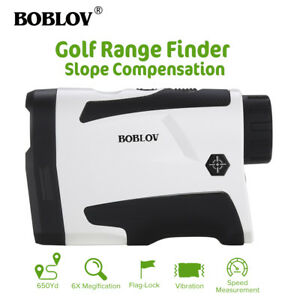 BOBLOV-LF600AG-GOLF-LASER-RANGE-FINDER-w-FLAG-LOCK-SLOPE-amp-VIBRATION-WHITE
