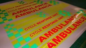 Ambulance-Cycle-Response-Paramedic-decals-stickers-reflective-fluorescent-safety