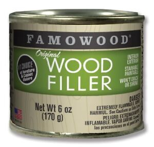 Famowood 36141100 Original Wood Filler - 1/4 Pint, Alder Une Performance SupéRieure