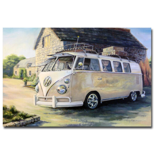 VW Camper Bus Art Silk Poster 13x20 24x36 inches 005