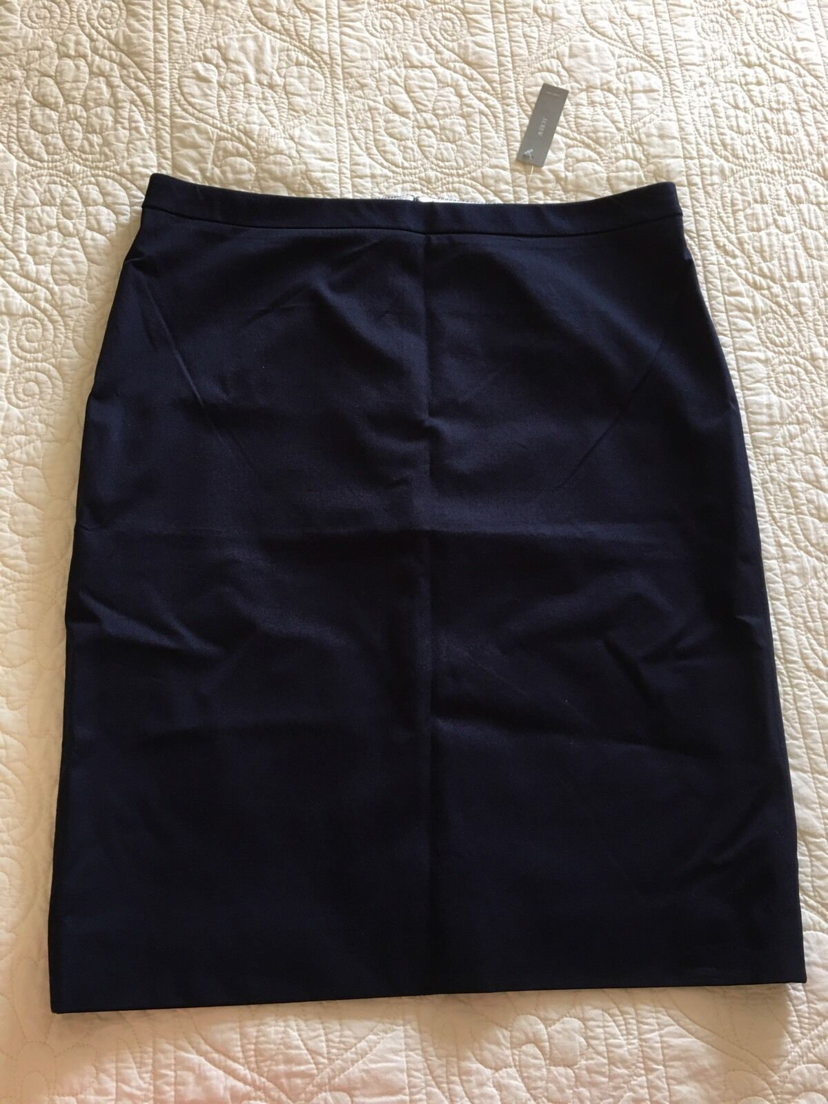 New JCREW Tall pencil skirt in bi-stretch cotton G3065 14T navy SPRING '17