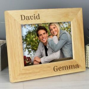 Personalised Couples Names Wooden Photo Frames Valentines Wedding