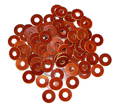 100 Tattoo Machine Brown Phenolic Coil Core Washers Parts Made In USA