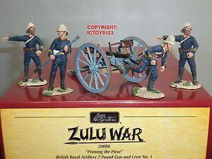 Britains 20086 Guerre zouloue apprêtant la pièce Ensemble d'équipes d'artillerie royale britannique 884101200862