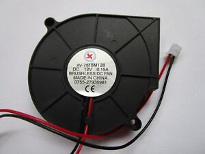 8 Pcs DC Blower Fan 12V 5028B 2 Pin 50x28mm Brushless DC Cooling Fan Ball-Bearing