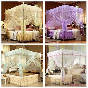 Details about Vintage Princess Lace Bedding Canopy Netting Mosquito Net  Full Queen King Size