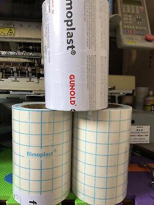 black Filmoplast Self Adhesive Sticky Backing Embroidery Stabiliser 50cm wide