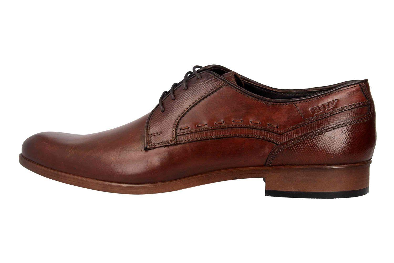 Fretz Men Oskar zapato bajo en talla extragrande marrón 7128.1232-37 grandes zapatos caballero