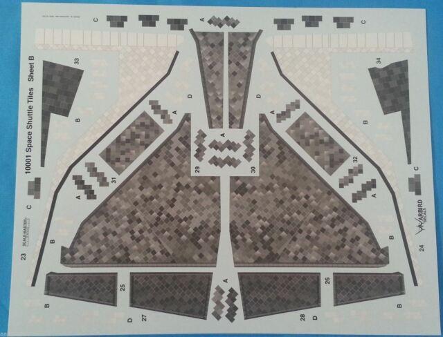 Warbird 1//72 Space Shuttle Tile Codes decals set 72029
