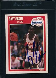 1989/90 Fleer #70 Gary Grant LA Clippers Signed Auto *54087