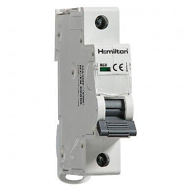 Hamilton 20A B Type Single Pole 6kA Miniature Circuit Breaker MCB