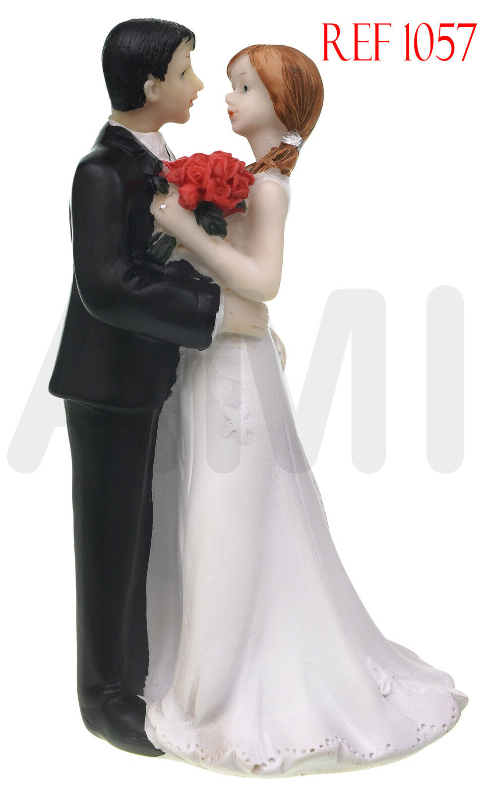 Clearance Sale Bride /& Groom Hugging Romantic Wedding Cake Topper UK Seller 1011