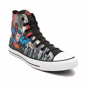 Details about New Converse Black All Star Hi Lace Up DC Comics Superman Shoes Womens Size 9