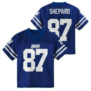 Details about NFL New York Giants Boys Sterling Shepard 87 Jersey Size XS 4/5