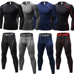 eae7d7637ffa8 Men s Compression Wear Tights Athletic Base Layers Running Soccer ...
