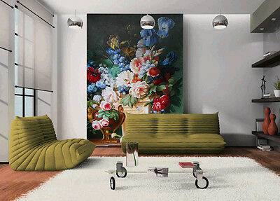 Details about  /Picture Painting Flowers 3D Hole in The Wall B Effect Wall Sticker Decal Mural