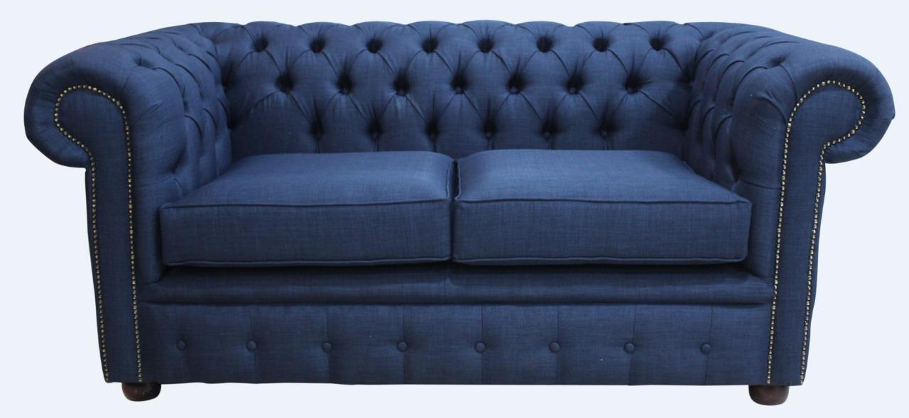 Peachy Details About Chesterfield Brand New 2 Seater Charles Midnight Blue Sofa Settee Couch Uk Pabps2019 Chair Design Images Pabps2019Com