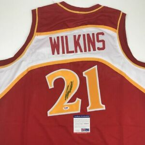 Autographed-Signed-DOMINIQUE-WILKINS-Atlanta-Red-Basketball-Jersey-PSA-DNA-COA