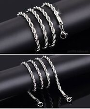 "ON TREND STAINLESS STEAL  MENS/UNISEX ROPE CHAIN NECKLACE 31"" 4 MM SS48"