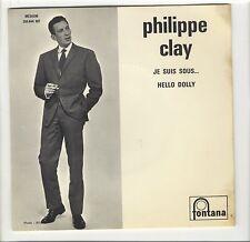 SP juke-box Philippe Clay Je suis sous... Nougaro  Hello Dolly encart photo