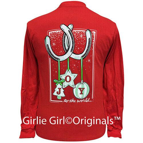 Girlie Girl Originals Tees Horseshoe Joy Red Long Sleeve T-Shirt - 2325