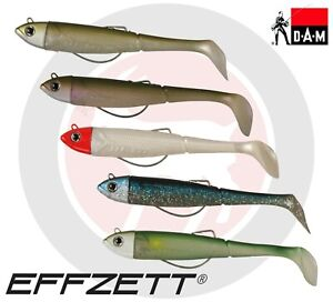 Sans-Kick-S-Minnow-DAM-EFFZETT-Bass-Leurre-de-peche-Paddle-Tail-plastique-souple