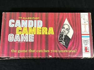 Candid-Camera-Board-Game-Vintage-1963-The-Allen-Funt-Lowell-Made-in-USA