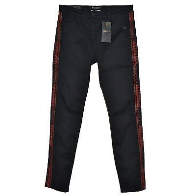 Fashion Style Maison Scotch Pantalon Slim Black Skinny Jeans Stretch 31x32 Embroidered Soda