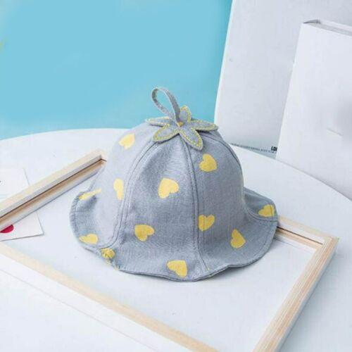 Cute Heart Print Baby Hat Summer Bucket Kids Girl Sun Hat Infant Toddler Panama