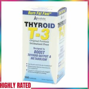 THYROID T-3 Radical Metabolic Booster Stimulant Free 180 Ct ABSOLUTE NUTRITION