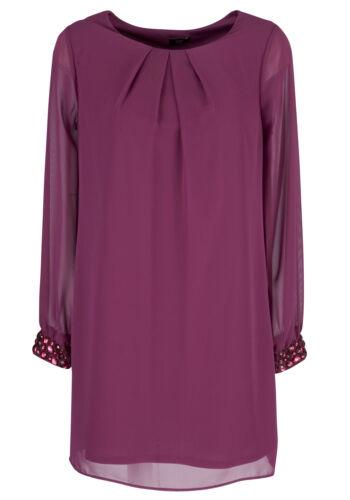 Pink Embellished Cuff Tunic Top//Dress 12 14  20  Nice