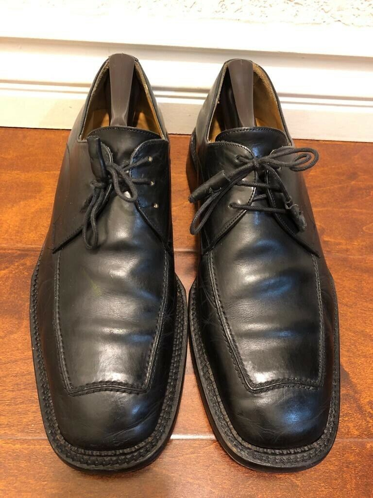 Avventura Hand Made In Spain Black Leather Men's shoes Size 10MUS