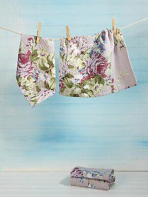 April Cornell Dishcloth Set//4 Cottage Rose COLLECTION NWT 100/% Cotton Lavender