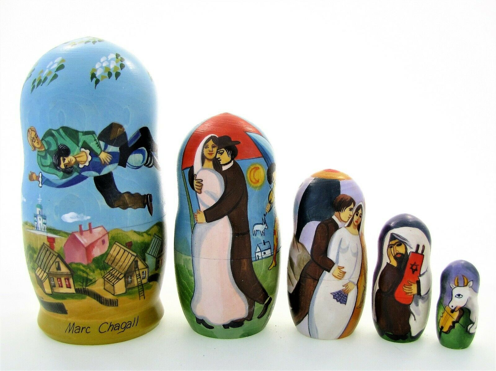 5 Poupées russes exclusive H18 Marc Chagall Matriochka Russian Doll Matrioshka