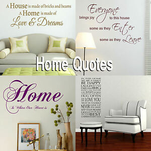 Big Vinyl Quote Sticker QU78 Large Vinyl Wall Quote Love Makes Home