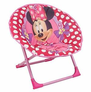 Incredible Details About Disney Minnie Mouse Foldable Moon Chair Children Folding Padded Camping Garden Customarchery Wood Chair Design Ideas Customarcherynet