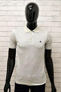 Polo-GIGI-RIZZI-Uomo-Taglia-Size-XS-Maglia-Maglietta-Shirt-Woman-Cotone-a-Righe