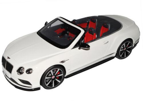 Bentley Continental GT V8 convertible blanco ZM 046 1//18 GT espíritu modelos coches o...