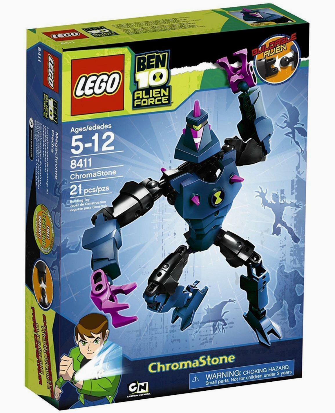 Lego Ben 10 Alien Force ChromaStone Nuovo 8411 Cartoon Network 21 pieces