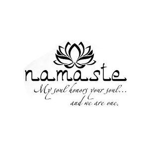 Namaste Wall Decal Quote Buddha Lotus Flower Wall Vinyl Sticker Yoga
